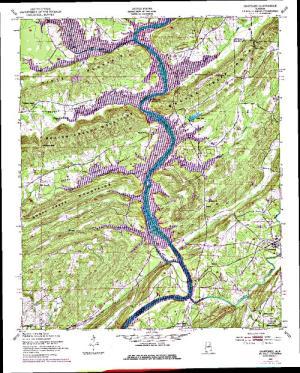 lake neely henry map H Neely Henry Lake Angler S Atlas lake neely henry map