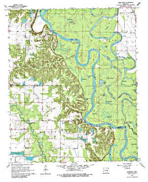 Free Arkansas Topographic Map.Mud Lake Angler S Atlas
