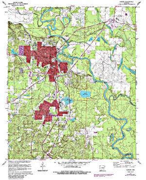 Free Arkansas Topographic Map.Little Johnson Lake Angler S Atlas
