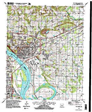 Free Arkansas Topographic Map.Crain Lake Dam Angler S Atlas