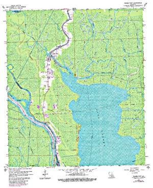 lake verret fishing map Lake Verret Angler S Atlas lake verret fishing map