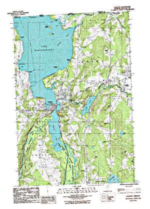 Quebec Topographic Map.Lake Memphremagog Quebec Angler S Atlas