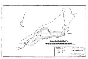 salmon lake bc map Salmon Lake British Columbia Angler S Atlas salmon lake bc map