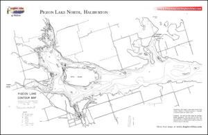 map of pigeon lake ontario Pigeon Lake Ontario Angler S Atlas map of pigeon lake ontario