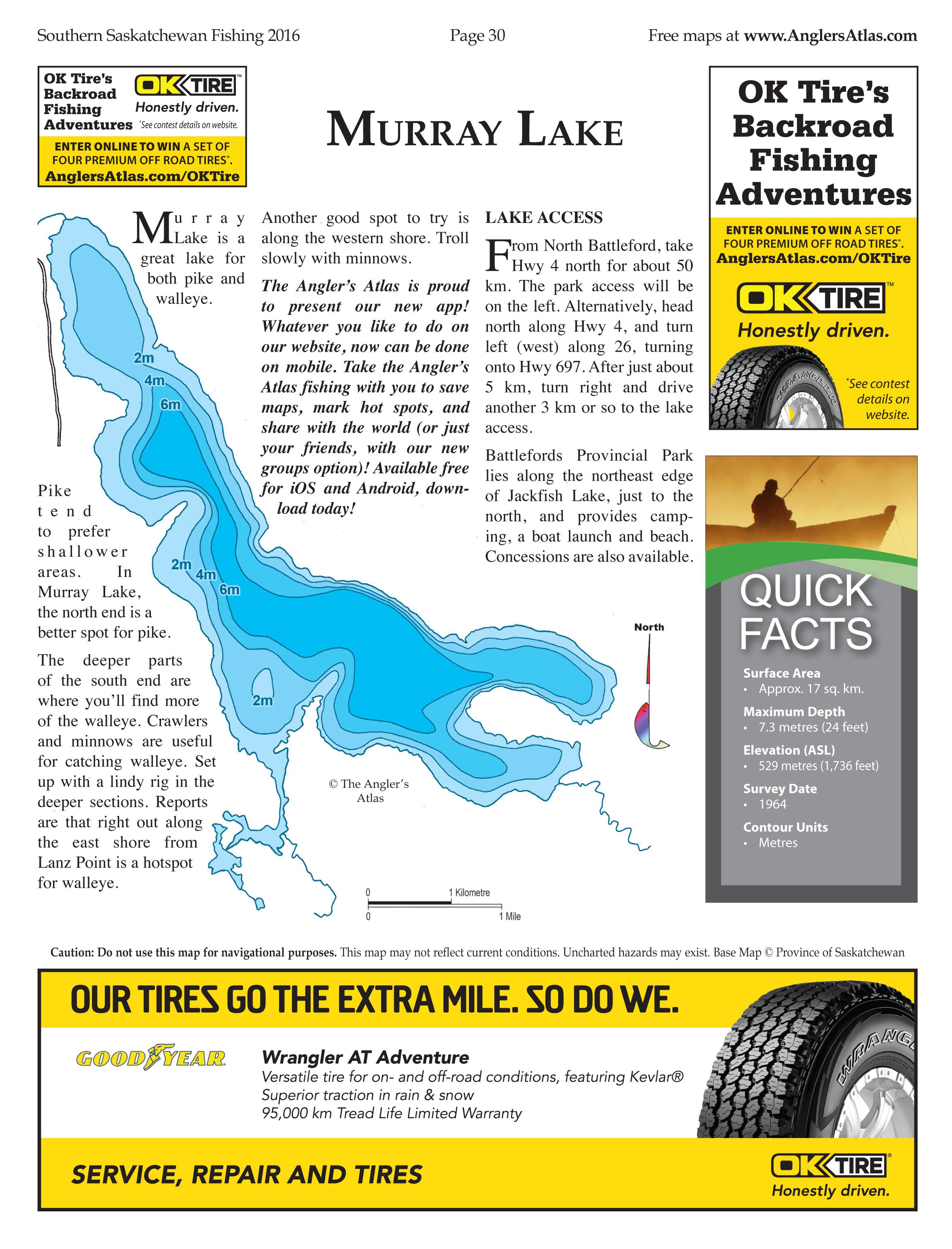 Murray Lake Free Maps | Angler's Atlas