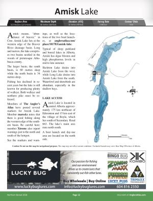 Amisk Lake, Alberta | Angler's Atlas