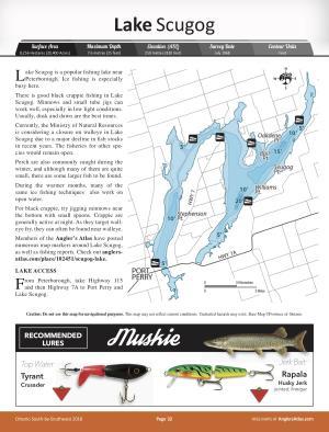 lake scugog fishing map Scugog Lake Ontario Angler S Atlas lake scugog fishing map