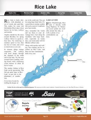 rice lake ontario map Rice Lake Free Maps Angler S Atlas rice lake ontario map