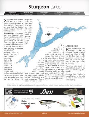 sturgeon lake ontario fishing map Sturgeon Lake Ontario Angler S Atlas sturgeon lake ontario fishing map