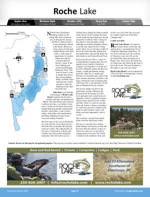 Roche Lake, British Columbia | Angler's Atlas