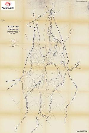 Balsam Lake Fishing Map Ontario Canada Boston Massachusetts On A Map: Balsam Lake Ontario Fishing Map