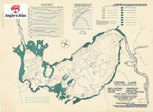 Crowe Lake Ontario Anglers Atlas - Ontario fishing lakes maps