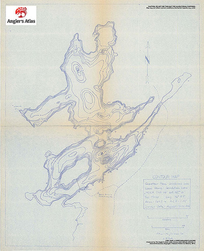 Contour Map For Grindstone Lake Ontario