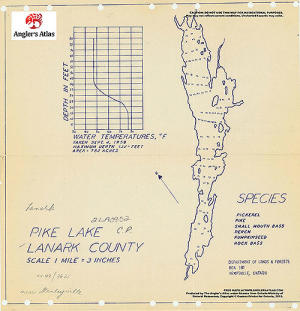 pike lake ontario map Pike Lake Free Maps Angler S Atlas pike lake ontario map