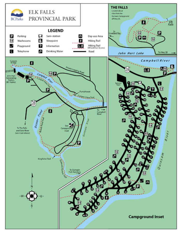 Campbell River Free Maps Anglers Atlas