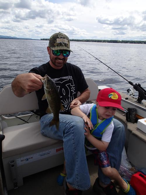 Photo thumbnail: My son and I went out fishing...