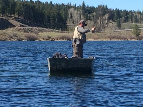 Photo thumbnail: Ice off early and fishing is great!