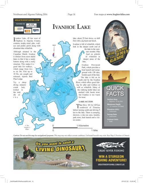Photo thumbnail: Lake of the Day: Ivanhoe Lake