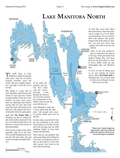 Photo thumbnail: Map Of The Day: Lake Manitoba - North